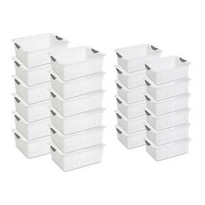 Sterilite Large Ultra Storage Organizer Basket 12 Pack Medium Bins 12 Pack