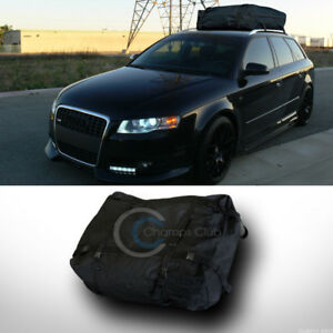 Black Waterproof Roof Top Cross Bar Rack Cargo Carrier Bag Car Suv Truck Van Ca