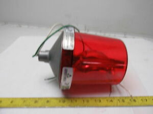 Federal Signal Electraray Model 225 120v Rotating Beacon Red Alert Signal