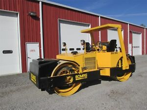 2003 Bomag Bw 266 Asphault Double Smooth Drum Compactor Cummins 5349 Hours Nice
