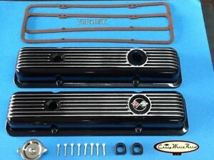 69 74 Camaro Z28 Lt1 69 82 Corvette New Black Aluminum Valve Cover Kit Covers