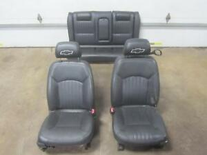 00 05 Chevy Monte Carlo Front Seat Bucket Leather Full Set Complete Rear Black
