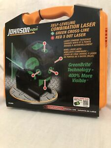 Johnson Self Leveling Combination Laser 40 6688 With Green Cross Line