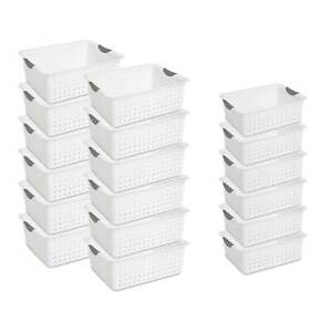 Sterilite Large Ultra Storage Organizer Basket 12 Pack Medium Bins 6 Pack