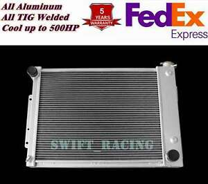 3 Rows Aluminum Radiator Fit 1967 69 Chevy Camaro Big Block 23 Wide Core Cu370