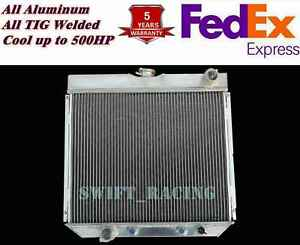 All Aluminum Radiator Fit 1967 70 Ford Fairlane Falcon Maverick Mustang 3 Rows