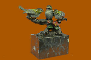 Bird Of Paradise Bronze Sculpture Marble Base Figurine Figure Statue Gift Deal
