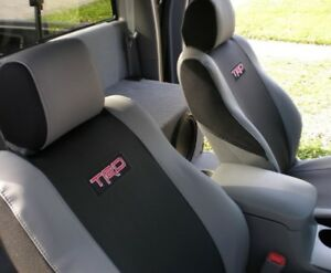 For Toyota Tacoma 2 7l 4 0l 2005 2008 Front Seat Covers Black Gray With Logo