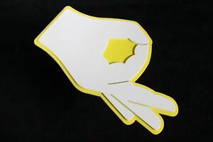 Made You Look Yellow Hand Game Reese Hitch Cover Plug Trailer Receiver Gotcha