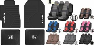 All Weather Heavy Duty Rubber Floor Mats Pu Leather Seat Covers For Honda Civic