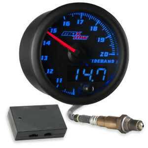 Black Blue Maxtow Wideband Air Fuel Ratio Afr Gauge Kit W Data Logging Output
