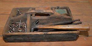 1800 S Antique Tool Carrier Farriers Collectible Horse Primitive Display Piece