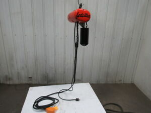 Cm Lodestar Model F 1 2 Ton Electric Chain Hoist 16fpm 20 Lift 115v 1 Phase
