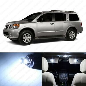 19 X White Led Interior Light Package For 2005 2017 Nissan Armada Pry Tool