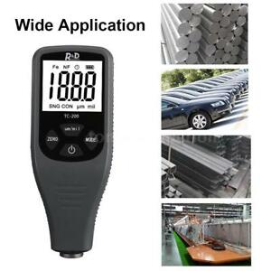 Tc200 Lcd Digital Coating Thickness Gauge Car Paint Compact Thickness Meter N4d6