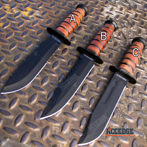 12quot; MILITARY USMC Tactical Fixed Blade Hunting Knife w Comfortable Grip $21.15