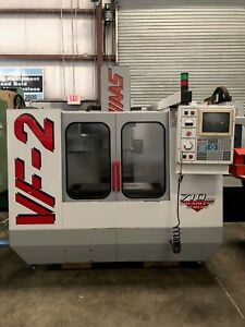Haas Vf 2 Cnc Vertical Machining Center 1997 954 Spindle Hours gmt 1690