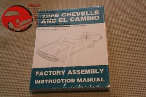 66 Chevelle El Camino Factory Assembly Line Manual Book Reference Guide New