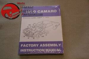 1970 70 Chevrolet Chevy Camaro Factory Assembly Manual