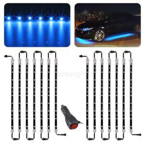 14pcs Neon Bright Blue Led Strip Bar Kit For Truck Car Underglow Underbody
