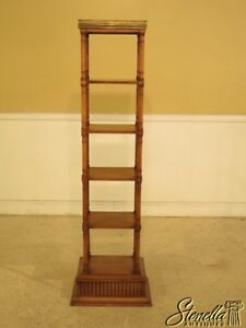 L29775ec Regency Style 6 Tier Cherry Bookshelf W Brass Gallery