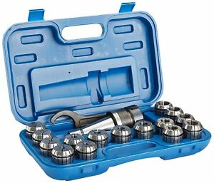 R8 17 Piece Er 40 Spring Collet Chuck Set 3900 0005