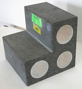Doall 9 Granite Step Angle Block 000050 W Steel Inserts For Mag Base Indicator