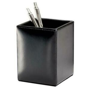 Dacasso A1410 Black Bonded Leather Pencil Cup