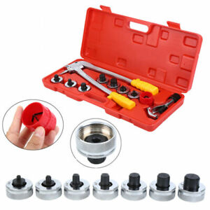 Heads Tube Expander Swaging Kit Plumbing Pipe Hvac Hydraulic Copper Tool 1 4