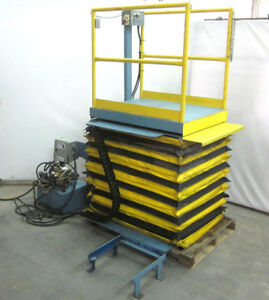 Advance Al 236m Hydraulic Scissor Man Lift Dock skirt Lt rt up down 3 ph 500lbs
