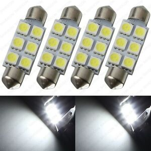 4 X White 41mm 42mm 6smd 5050 Festoon Dome Map Led Light 578 211 2 212 2 Tool