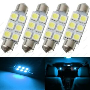 4 X Ice Blue 42mm 6smd 5050 Festoon Dome Map Led Light 578 211 2 212 2 Tool