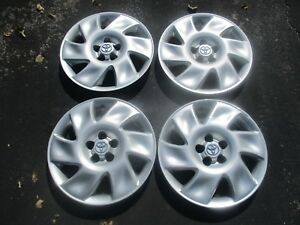 Genuine 2003 2004 Toyota Matrix 16 Inch Hubcaps Wheel Covers Used Set Beaters