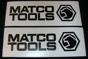 2 Matco Tools 6 Black Decals For Toolbox Trucks Vans Windows Or Wherever