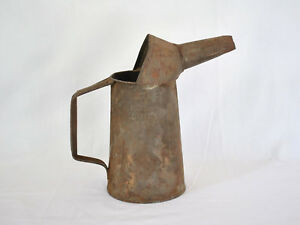 Antique Oil Can Rusty Quart Salvage Primitive Usa Collectible