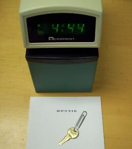 Acroprint Etc Time Clock W Key