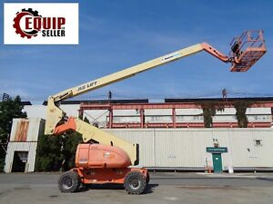 2007 Jlg 800a 80ft Height Articulating Boom Man Aerial Lift Diesel 4x4