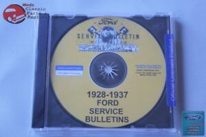 1928 37 Ford Services Bulletins Manual Car Truck Pickup Cd Rom Disc Pdf New