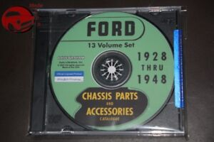 Ford Passenger Car Chassis Parts Accessories Catalog Green Bible Cd Rom Pdf