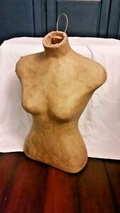 Retail Store Female Body Form Bust Torso Hard Paper Display Free Standing Hang