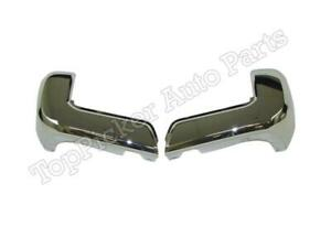 For Toyota Tacoma 2016 2018 Rear Bumper End Chrome W O Sensor Hole Lh