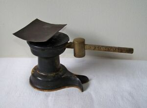 Antique Howe Scale Co Small Cast Iron Brass 9 Oz Single Beam Postal Scale