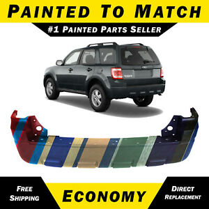 New Painted To Match Rear Bumper Cover Direct Fit For 2008 2012 Ford Escape Suv