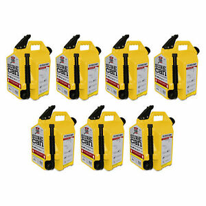 Surecan 5 Gallon 19 Liter Self Venting Diesel Fuel Can Rotating Spout 7 Pack