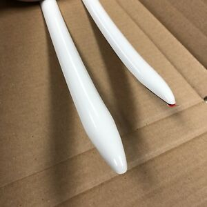Vintage Type 7 8 X 16 Solid White Body Side Molding Molding Oem Point Ends
