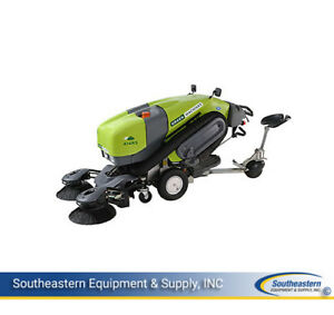 Reconditioned Tennant Green Machine 414 Ride on Sweeper
