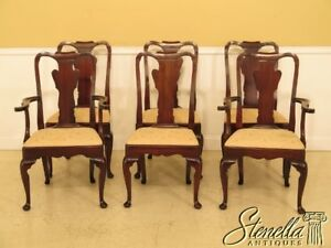 L45084ec Set Of 6 Statton Stratford Cherry Dining Room Chairs