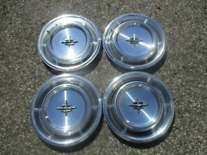 Genuine 1970 To 1972 Lincoln Continental Hubcaps Wheel Covers Set