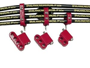7 8mm Vertical Wire Loom Kit Red Taylor Cable 42522
