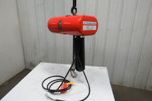 Cm Lodestar Model J 1 2 Ton 1000lb 110v Electric Chain Hoist 14 9 Travel 32fpm